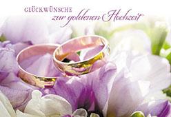 Glückwunschkarte Glückwünsche Zur Goldenen Hochzeit 6 St Eheringe A Balling