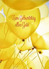 Gluckwunschkarte Zum Geburtstag Alles Gute 6 St Gelbe Luftballons