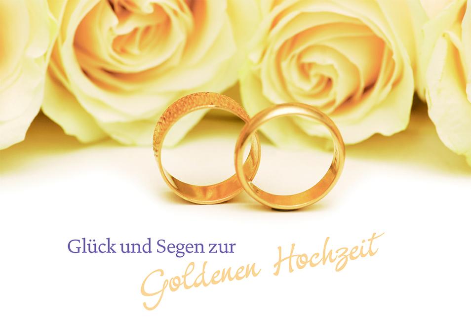 Top Hochzeitskarte Glück Segen zur Goldenen Hochzeit (6 St) Grußkarte @MP_73