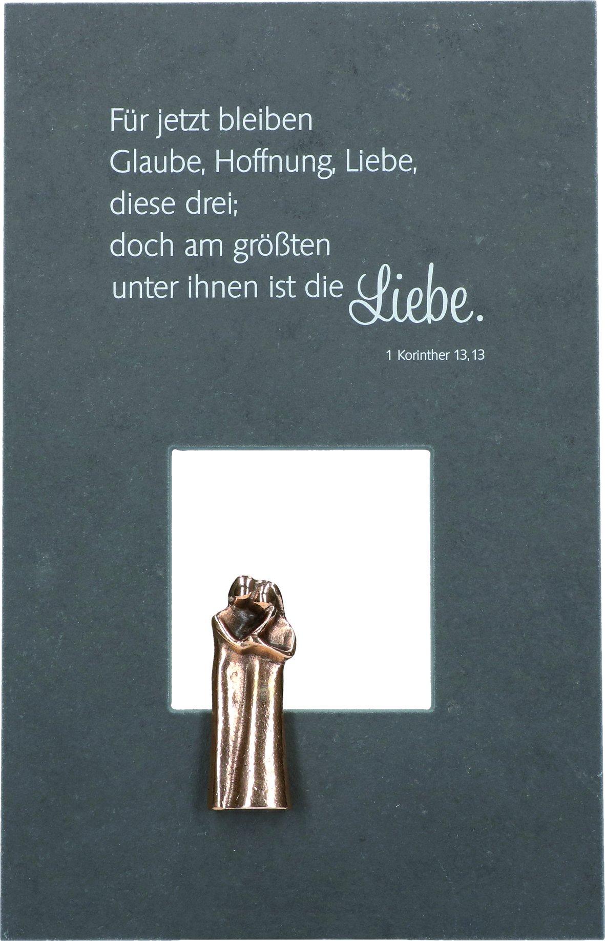 Gemeinsame Wandrelief Hochzeit Glaube Hoffnung Liebe 29 cm Bronzefiguren @KD_67