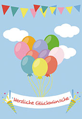 Gluckwunsche zum geburtstag 3 luftballons