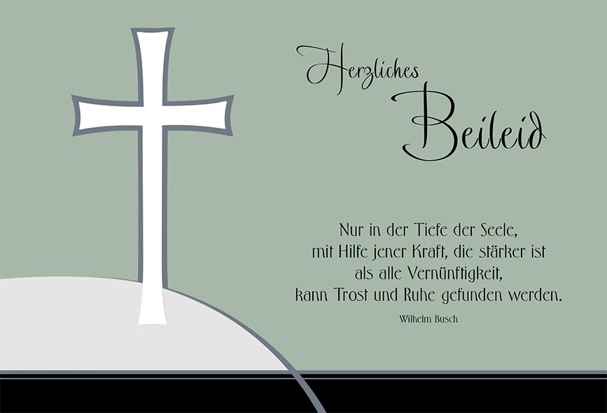 Trauerkarte Herzliches Beileid Wilhelm Busch 6 Stck