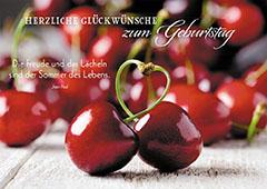 Postkarte Herzliche Gluckwunsche Zum Geburtstag 10 St Kirschen