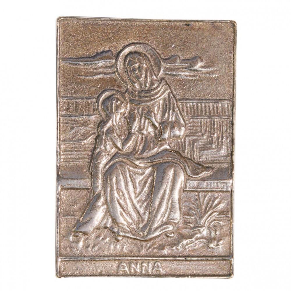 Namenstag Anna Anke Anette 8 X 6 Cm Bronzeplakette Wandrelief