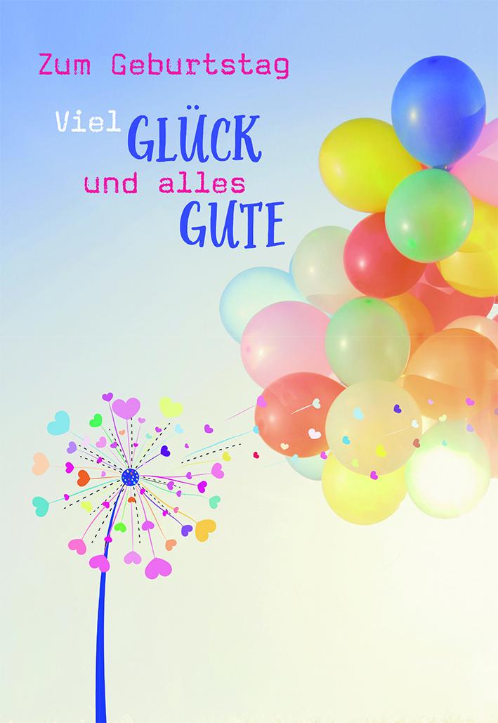 Gluckwunschkarte Zum Geburtstag Viel Gluck Und Alles Gute 6 St