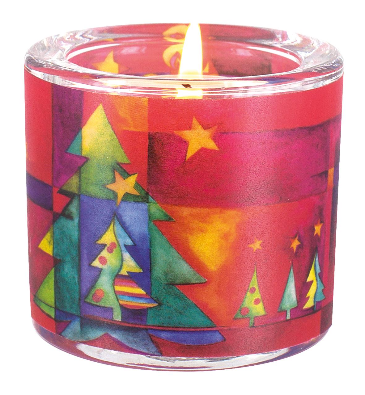 Geschenkbox Weihnachten.Glaswindlicht Weihnachten Teelicht Kerzenhalter Geschenkbox Glas Für Windlicht
