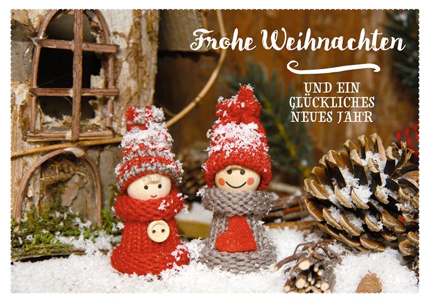 Postkarte Frohe Weihnachten (10 Stck) Tannenzapfen Adressfeld ...
