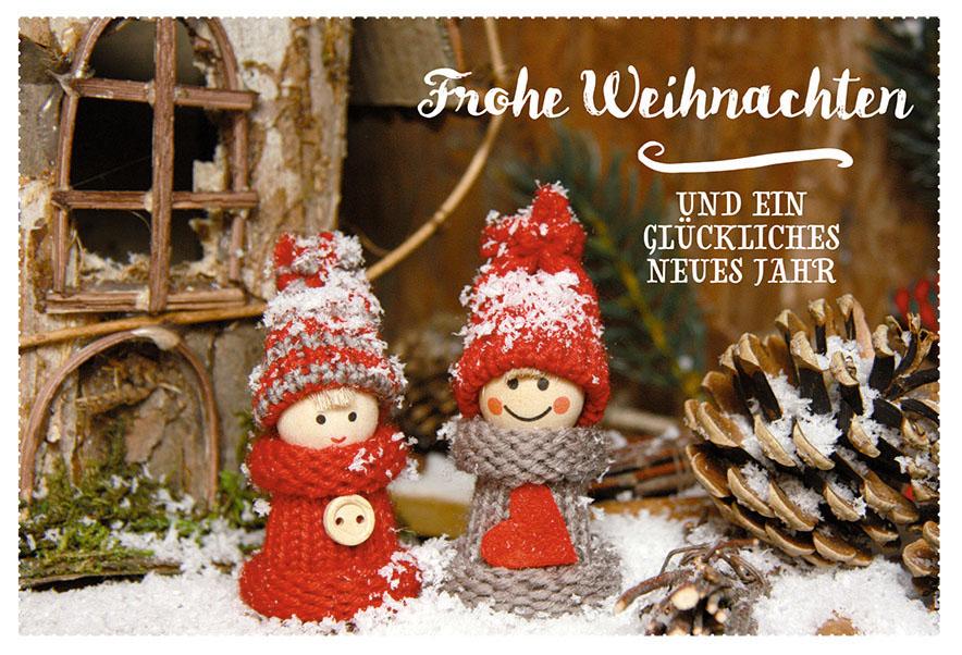 Frohe Weihnachten Und Ein Gutes Neues Jahr Tschechisch.Weihnachtskarte Frohe Weihnachten Neues Jahr 6 Stck Schnee Tannenzapfen Kuvert