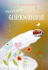 Gluckwunschkarte Zum Geburtstag Herzliche Gluckwunsche 6 St