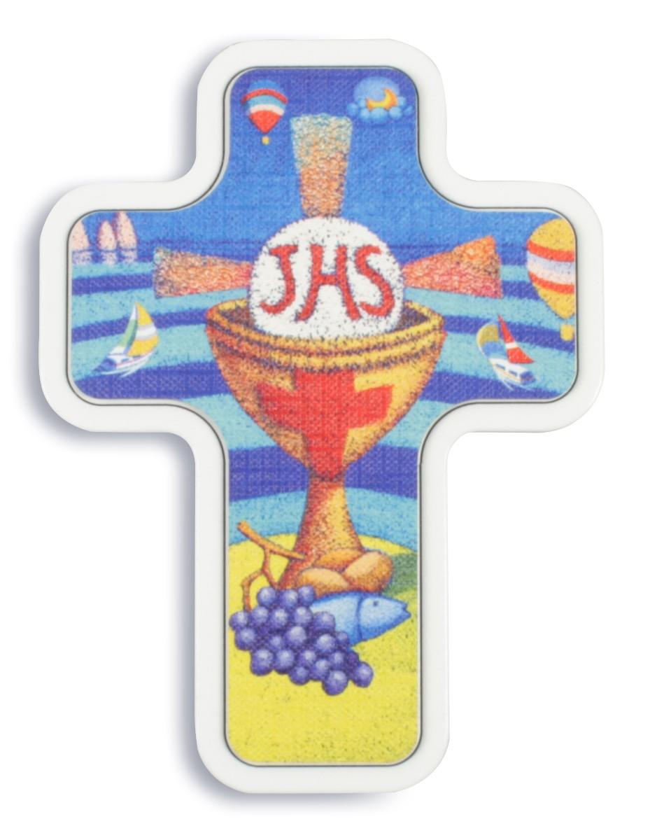 Kreuz für Kinder Kommunion 11, 5 cm Kruzifix Holz-Kreuz Wandkreuz