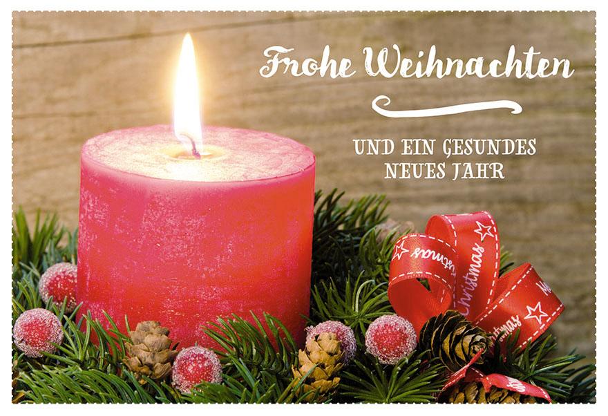 Frohe Weihnachten Und Ein Neues Jahr.Weihnachtskarte Frohe Weihnachten Neues Jahr 6 Stck Kerzenschein Kuvert