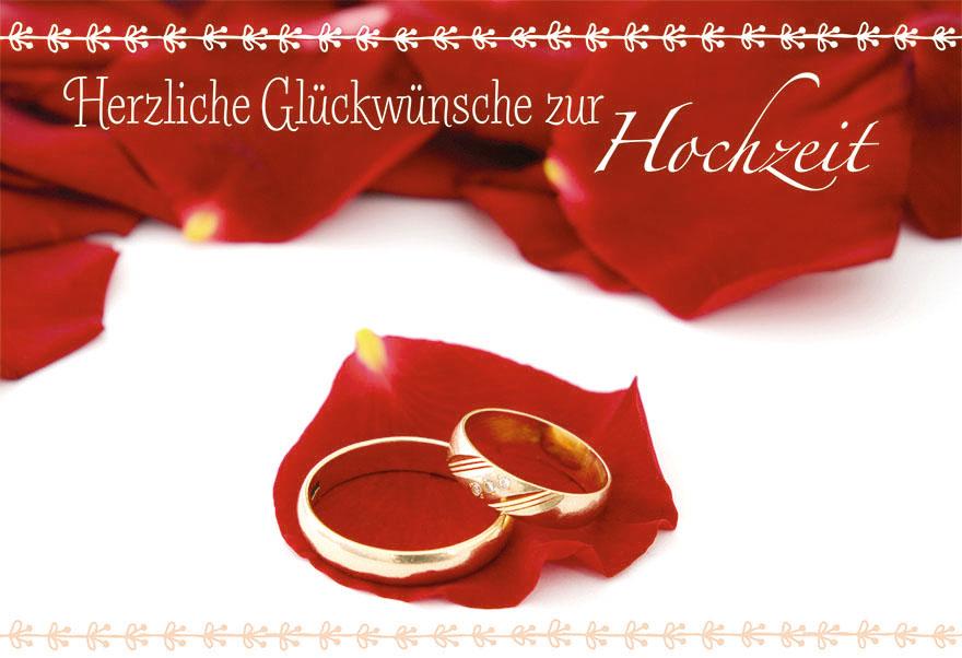 Hochzeitskarte Herzliche Gluckwunsche Zur Hochzeit 6 St Grusskarte