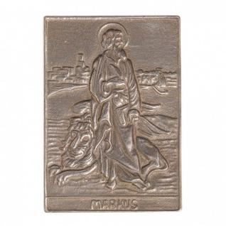 Namenstag Markus 8 x 6 cm Bronzeplakette Bronzerelief Wandbild Schutzpatron