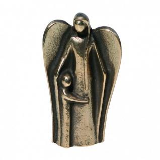 Schutzengel mit Kind Bronzefigur 7 cm Bronzeengel Engel