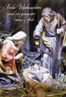 Glückwunschkarte Frohe Weihnachten (6 St) Heilige Familie Grußkarte Kuvert