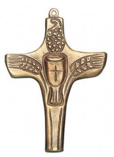 Wandkreuz Kreuz Kelch Ähren Bronze 8 cm Erstkommunion Handarbeit Heinz Uppendahl