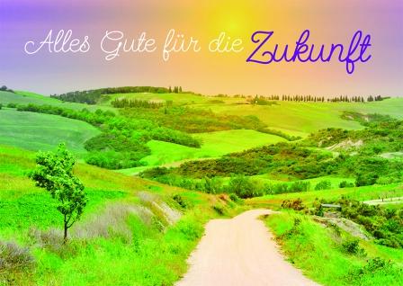 Postkarte Alles Gute für die Zukunft (10 Stck) Glückwunschkarte