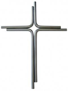 Wandkreuz Edelstahl schlicht Kreuz 25, 5 x 19 cm Handarbeit Kruzifix Christlich