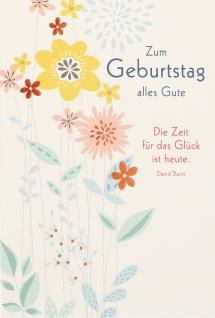 Geburtstagskarte Zum Geburtstag alles Gute (6 Stck) Glückwunschkarte - Vorschau