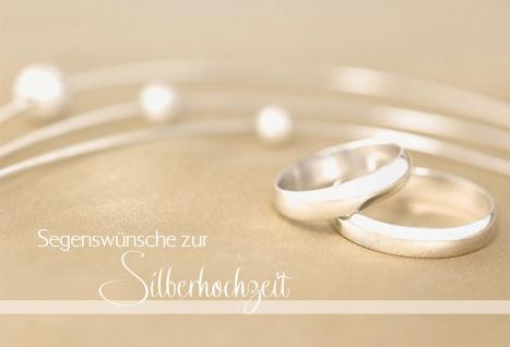 Hochzeitskarte Segenswünsche zur Silberhochzeit (6 St) Kuvert Grußkarte