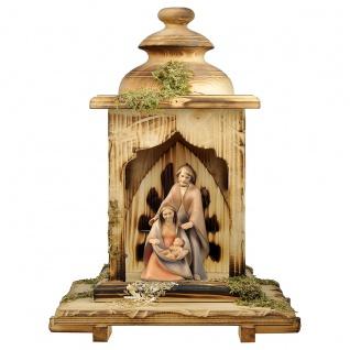 Die Hoffnung Laternen Stall 2 Teile Holzfigur geschnitzt Weihnachtskrippe