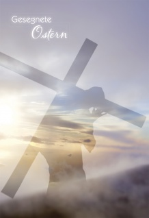 Grußkarte Gesegnete Ostern Johannes (6 Stück) Grußkarte Glückwunschkarte Kuvert