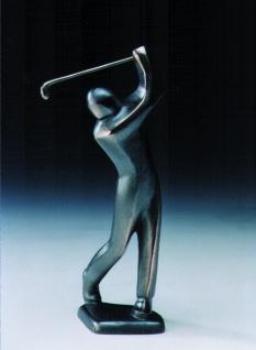 Bronzeskulptur Golfer abschlagend 23 cm Bronze Figur