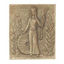 Namenstag Christina Bronzeplakette 13 x 10 cm Bronzerelief Wandbild Schutzpatron