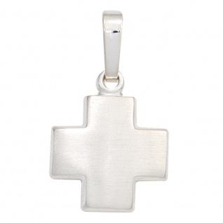 Schmuck Kreuz Anhänger 925 Sterling Silber mattiert Kruzifix Religiöser Schmuck