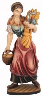 Heilige Notburga Heiligenfigur Holz geschnitzt Schutzpatronin Dienstmagd