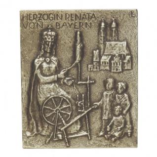 Namenstag Renate Bronzeplakette 13 x 10 cm Bronzerelief Wandbild Schutzpatron