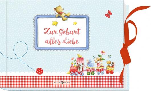 Geschenkbuch Zur Geburt alles Liebe mit Gutschein-Tasche