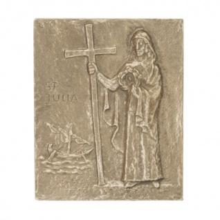 Namenstag Julia Bronzeplakette 13 x 10 cm Namenspatron