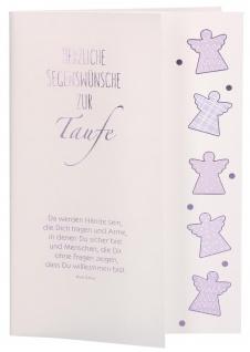 Glückwunschkarte Taufe 6 St Kuvert Kahlil Gibran Segens-Wünsche Sakrament Leben