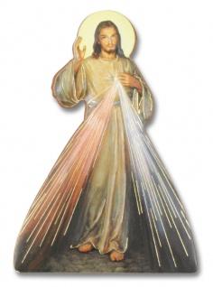 Magnet-Pin Barmherziger Jesus 7, 5 x 5 cm