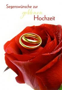 Hochzeitskarte Goldhochzeit Segenswünsche (6 St) Glückwunschkarte Kuvert