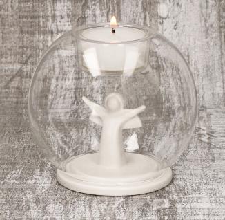 Glaswindlicht Lichter Zeit Porzellan Engel Kerzenhalter Glas für Windlicht