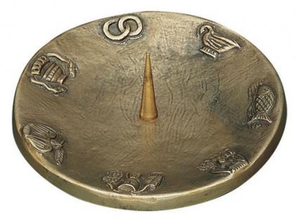 Kerzenleuchter mit 7 Symbolen Ø 12 cm Bronze Kerzenhalter Kommunion Taufe
