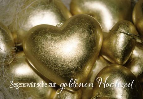 Hochzeitskarte Segenswünsche zur goldenen Hochzeit (6 Stck)