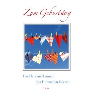 Geburtstagskarte Himmel im Herzen (3 Stck) Glückwunschkarte