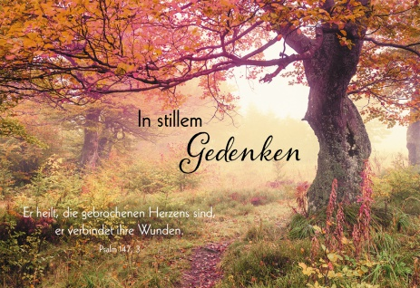 Trauerkarte Gedenken Maria Wiesinger 6 St Kuvert Bibelwort Bibelmeditation Trost
