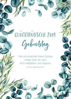 Postkarte Geburtstag 10 St Adressfeld Segens-Wunsch Gratulation Glück Schutz