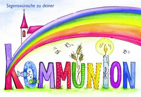 Kommunionkarte Segenswünsche zu deiner Kommunion (6 St) Erstkommunion Grußkarte