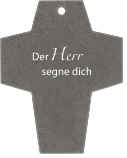 Schiefer-Kreuz Der Herr segne dich Kruzifix 10 cm Kreuz Wandkreuz