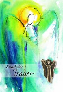 Trauerkarte Engel der Trauer (5 Stck) Bronzefigur Beileidskarten Kondolenzkarten