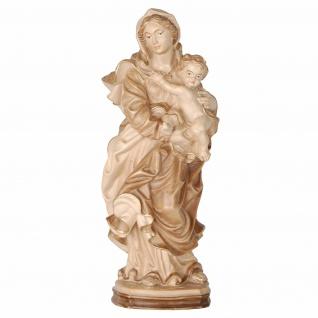 Marienfigur Madonna der Barmherzigkeit Holz, geschnitzt gebeizt Schnitzkunst