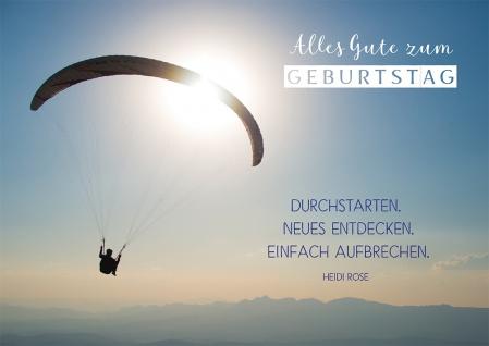 Postkarte Geburtstag Fallschirmspringer 10 St Adressfeld Wunsch Aufbruch