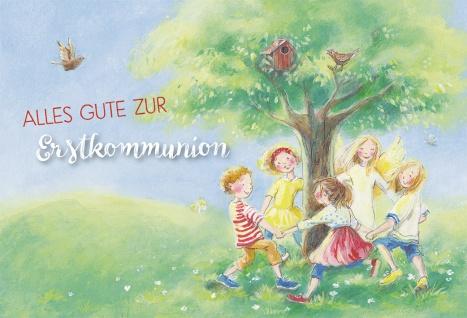 Glückwunschkarte Alles Gute zur Erstkommunion (6 St) Kinder und Engel