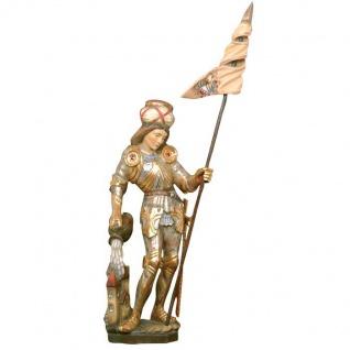 Heiliger Florian Pacher Holzfigur geschnitzt Südtirol Schutzpatron Heiligenfigur