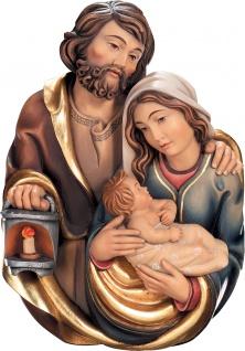 Heilige Familie Brustbild Holzfigur geschnitzt Südtirol